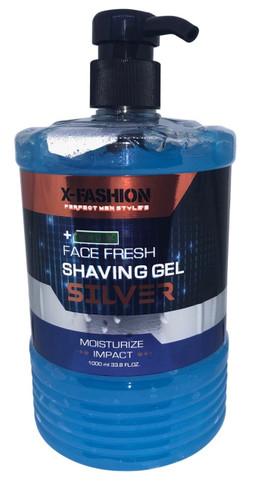X- Fashion Face Fresh Shaving Silver Gel Blue - 1L