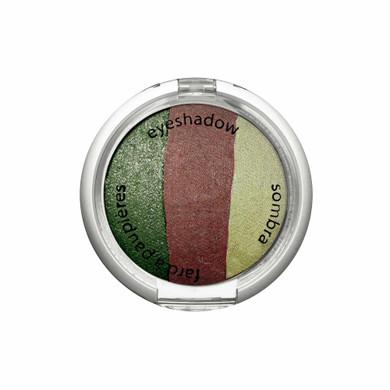 Palladio Baked Eye Shadow Trio - Green  Ivy