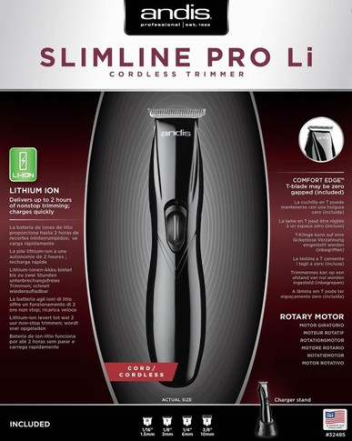 Andis Professional Slimline Pro Lithium Cordless Trimmer Black