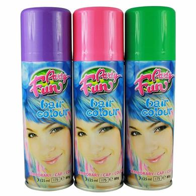 Party Fun Temporary Color Hair Spray Blue - 125ml