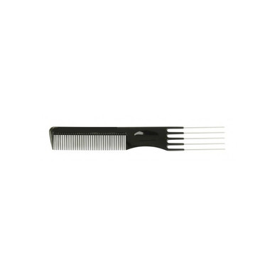 Eurostil Curved Teeth Comb with Plastic Lifters  7.5' -  127