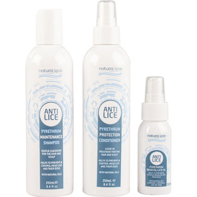 Natural Look Anti Lice Pyrethrum Trio Pack - Shampoo - Conditioner & Oil