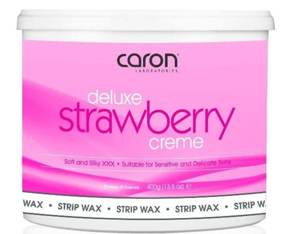 Caron Deluxe Strawberry Creme Strip Wax Microwaveable - 400g