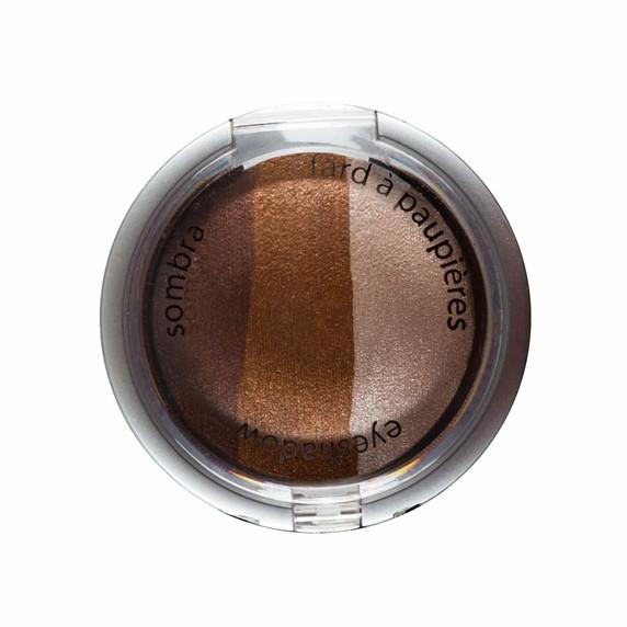 Palladio Baked Eye Shadow Trio - Chocolate Truffle