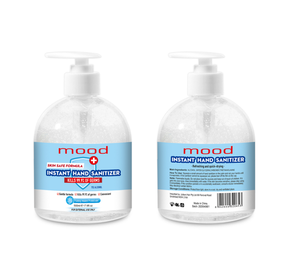 In Mood Instant Hand Sanitiser 500ml - 12 Pack with 75% Alchohol