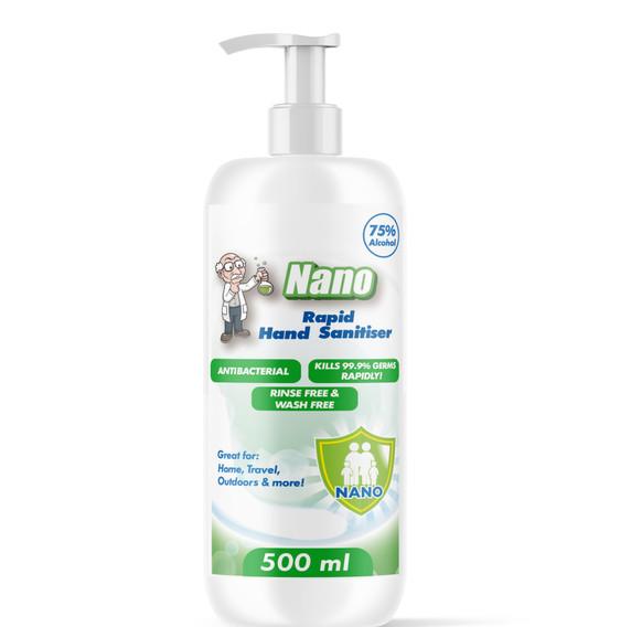 Nano Anti Bacterial Hand Sanitiser 500ml - 10 Pack