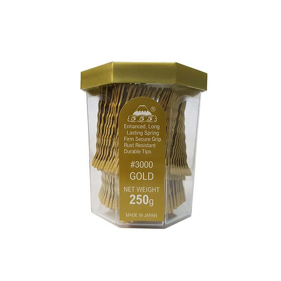 "555 Bobby Pins 2""  Matt Gold 250g Made In Japan"