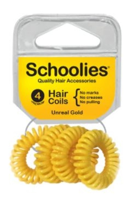Schoolies Hair Coils 4 Pack - Assorted Colours