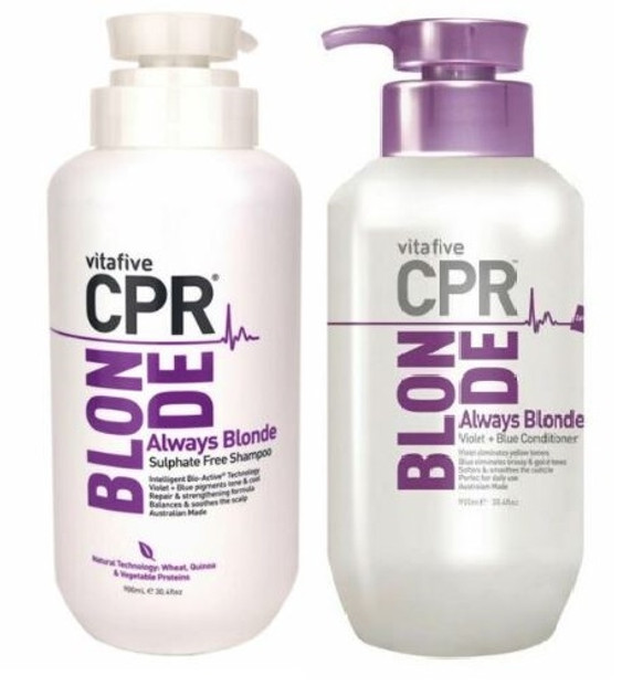 Vitafive CPR Always Blonde Toning Shampoo And Conditioner DUO 900ml