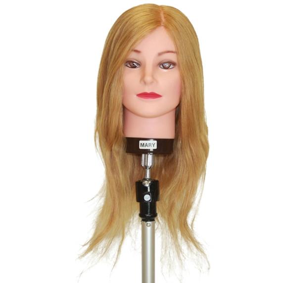 Mary Blonde 50 - 55cm Human Hair Mannequin Head