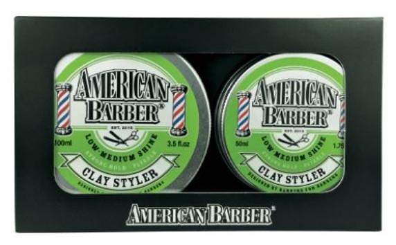 American Barber Clay Styler Duo Pack 50ml & 100ml
