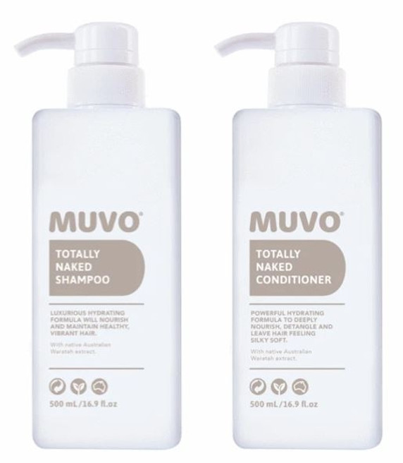Muvo Totally Naked Shampoo & Conditioner Duo 500ml