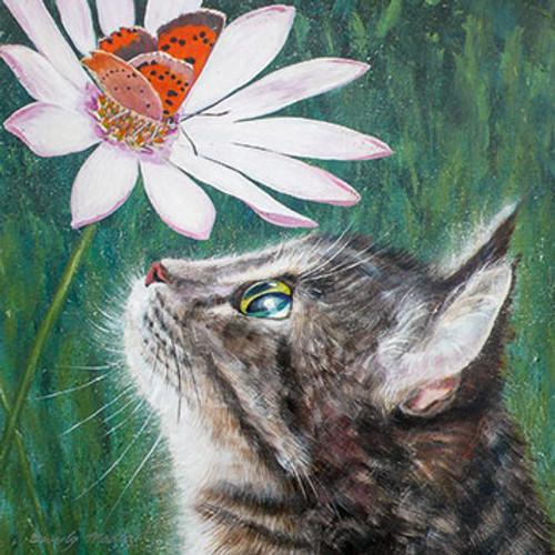 BM76510 - Small Copper and Tabby Cat (1 blank card)
