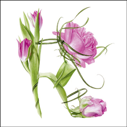 BS77418 - Tulip and Rose Shoe (1 blank card)~