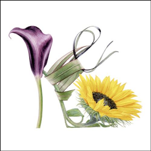 BS77420 - Sunflower Shoe (1 blank card)