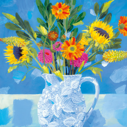 CH33822 - Bright Flowers (1 blank card)