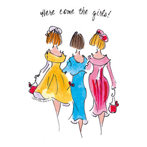 TG39129 - Here come the girls! (1 blank card)-