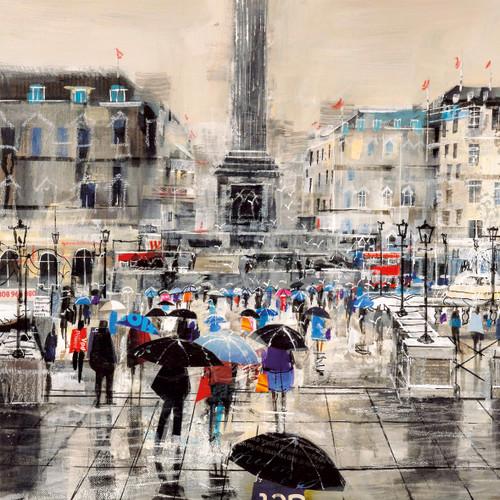 MB79814 - Summer Rain Showers, Trafalgar Square (1 blank card)~