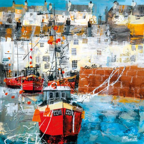 MB79816 - Fishing Boats, Newlyn (1 blank card)~