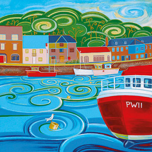 SH81520 - Along North Quay, Padstow (1 blank card)