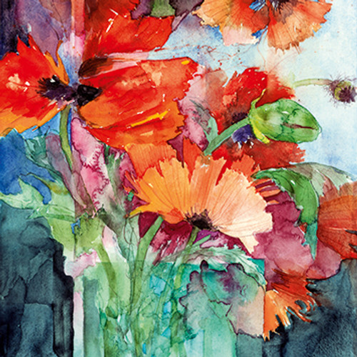 ST68213 - Oriental Poppies (1 blank card)~