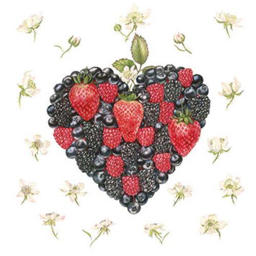 BS77532HB - Berry Heart (1 birthday card)~