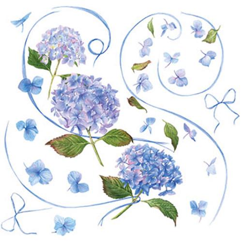 BS77548HB - Blue Hydrangea (1 birthday card)~