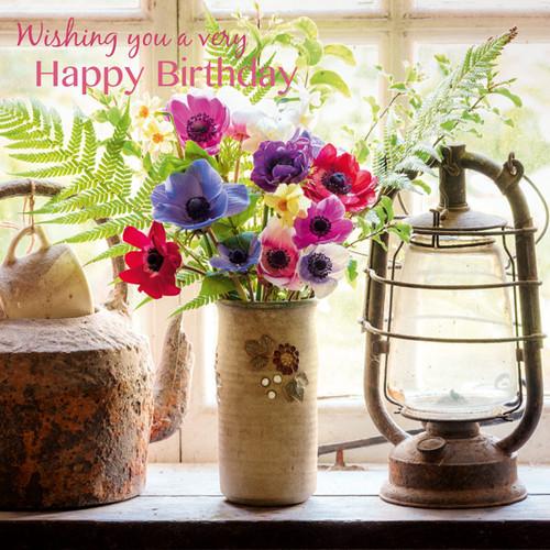 SM14100HB - Ferns and Anemones (1 birthday card)~
