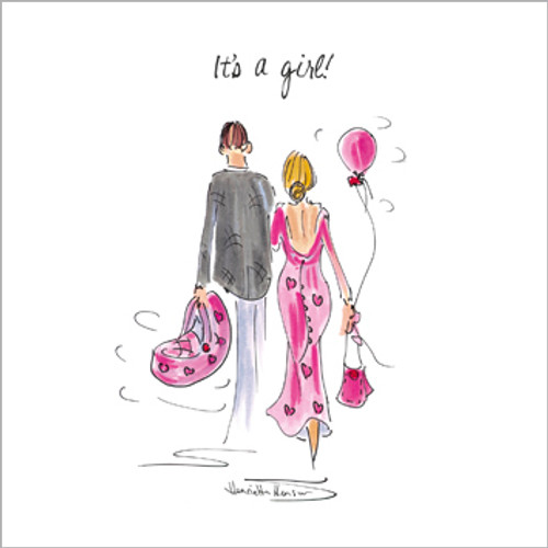 TG39106 - It's a Girl! (1 new baby card)-
