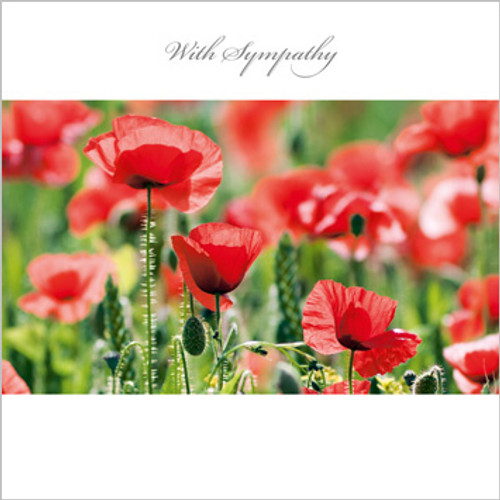 SM14018S - Poppies in the Cornfield (1 sympathy card)~