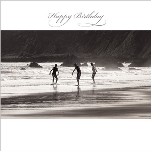 SM14010HB - Skimboarding at Low Tide (1 birthday card)~