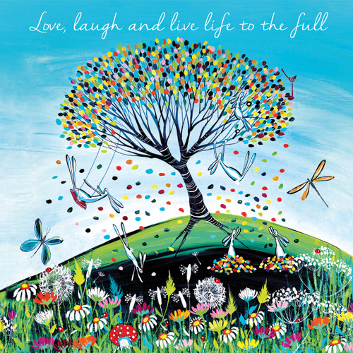 KA82872 - Love, laugh and live life to the full (1 blank card)-
