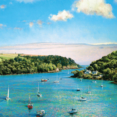 DO66386 - Estuary View from Dartmouth (1 blank card)