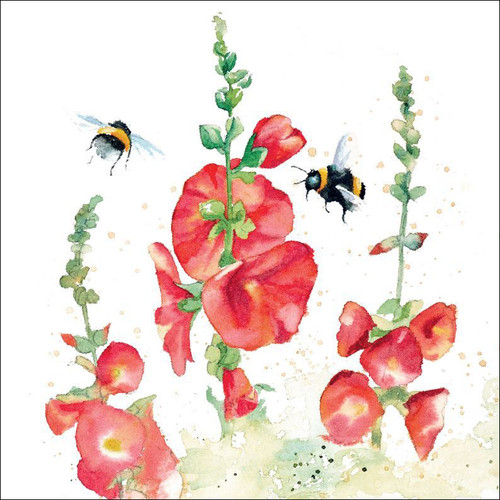 RT84916 - Hollyhocks (1 blank card)
