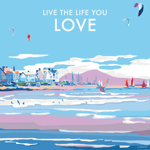 BB78991 - Live the Life you Love (1 blank card)-