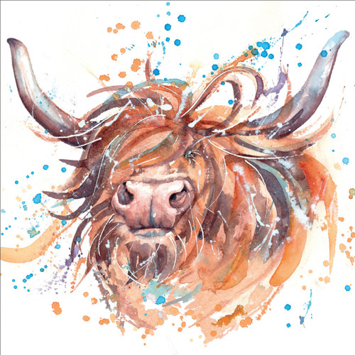 RT84950 - Highland Cow (1 blank card)
