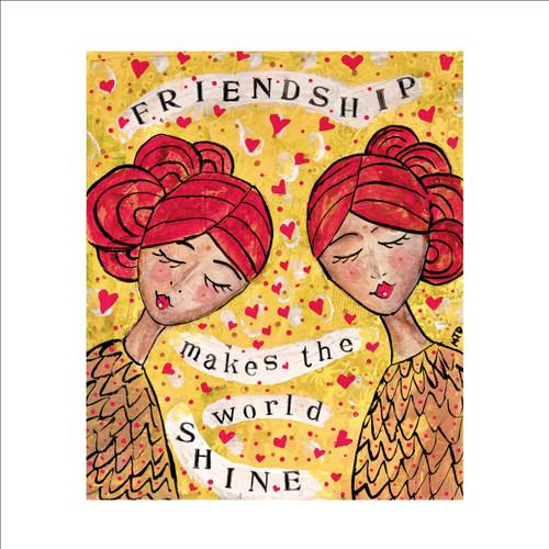 MD89981 - Friendship Makes the World Shine (1 blank card)