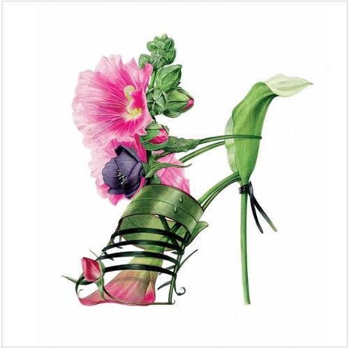 BS77012 - Pink Hollyhock Shoe (1 blank card)