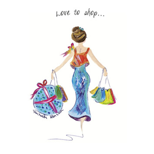 TG39122 - Love to Shop (1 blank card)~