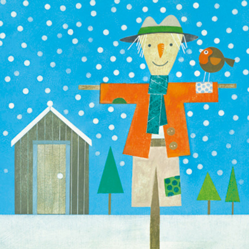 SK71064 - Snowy Scarecrow (1 pack of 8 Christmas cards)~