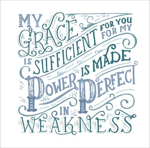 ES83734 - 2 Corinthians 12:9 (1 blank card)~