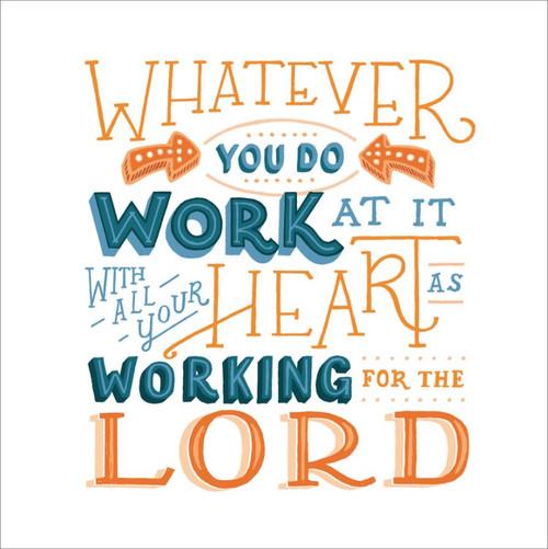 ES83742 - Colossians 3:23 (1 blank card)~