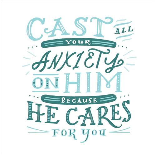 ES83743 - 1 Peter 5:7 (1 blank card)~