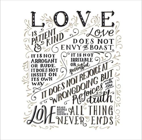 ES83745 - 1 Corinthians 13: 4-8 (1 blank card)~