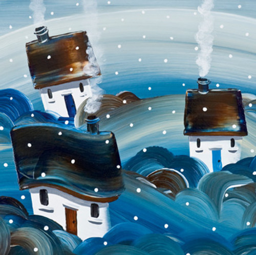 NK65030 -  Winter Woodsmoke (1 pack of 8 Christmas cards)~