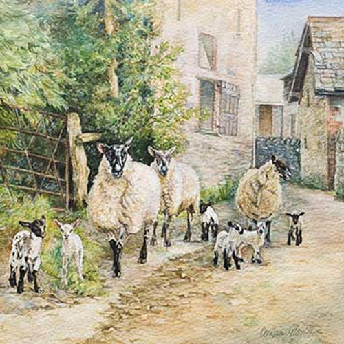 M34001 - Off to the Fields (1 blank card)~