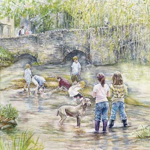M34014 - Messing about in the River (1 blank card)~