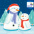 CC90002CH - Snowmen (1 pack of 8 charity Christmas cards)-