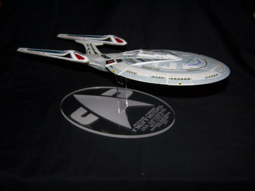 acrylic display stand for the Diamond Select Star Trek Enterprise E