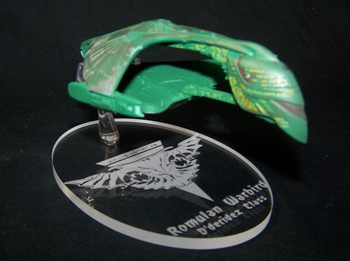 replacement base for the Eaglemoss Romulan Warbird
